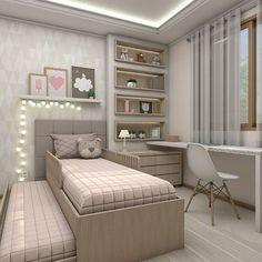 Projeto do dormitório de uma princesinha que está super feliz, pois em breve, vai trocar o berço por uma cama nova. Projeto e 3D por @brunaschusterarquitetura #brunaschusterarquitetura #interiores #bedroom #dormitórioinfantil #kids #cute #decor #homestyle #quarto #marcenaria #iluminação #instadecor #bedroomideas