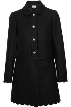 REDValentino Scalloped wool-blend coat | NET-A-PORTER