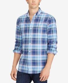 Polo Ralph Lauren Men's Classic-Fit Oxford Shirt - Navy/Dawn XXL