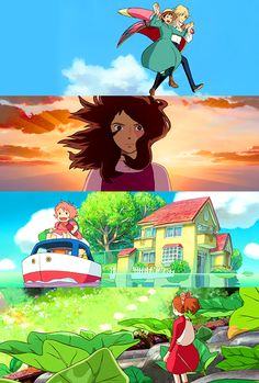 Howl's Moving Castle, Tales From Earthsea, Ponyo, The Secret World of Arrietty