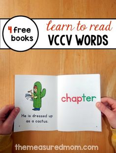 Teach kids to read words with the VCCV pattern using these free phonics books!