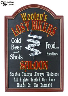 Biker Saloon Sign