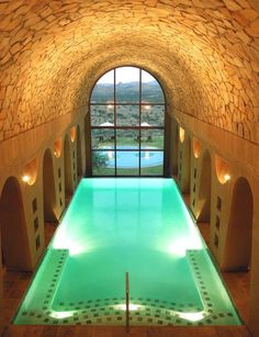 GocheGanas Wellness Village - Pool - The exposed stone ceiling gives this pool a cave-like appearance.