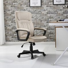 Ebern Designs Drago Ergonomic Microfiber Executive Chair   Wayfair High Back Office Chair, Mesh Office Chair, High Back Chairs, Antique Wooden Chairs, Industrial Dining Chairs, Cheap Office Chairs, Home Office Chairs, Office Decor, Shabby Chic Table And Chairs
