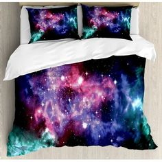 East Urban Home Outer Space Duvet Cover Set Cozy Bedroom, Teen Bedroom, Bedroom Decor, Teal Bedding Sets, Comforter Sets, Moving Out Of Home, Emily Ann, Paris Wallpaper, Virginia House