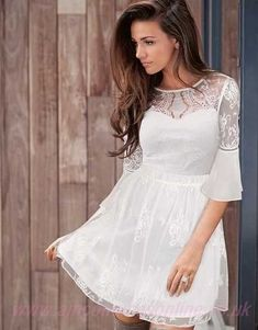 BNWT LIPSY MICHELLE KEEGAN STUNNING WHITE LACE DRESS 12 NEW WEDDING SUMMER