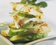 Mozzarella marinée au sésame et concombre (facile, rapide) - Une recette CuisineAZ