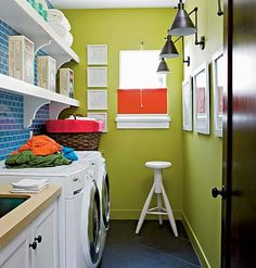 Laundry room, great colors.