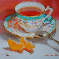 "Daily Paintworks - ""Delightful"" by Elena Katsyura"