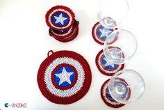 Captain America coasters by ahooka