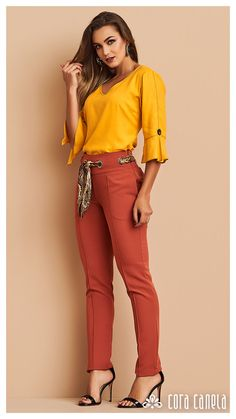 Bohemian Fall Outfits, Edgy Outfits, Colourful Outfits, Colorful Fashion, Fashion Pants, Fashion Outfits, Look Office, Business Outfits Women, Pants For Women