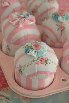 Porta alfinetes de cup cakes