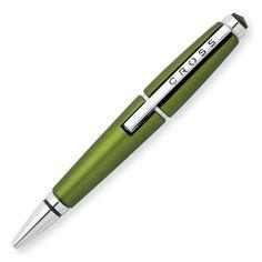 Zielone pióro kulkowe CROSS EDGE - Pióro kulkowe posiada mechanizm otwierania, który polega na rozsunięciu długopisu i można dokonać tego jedną ręką. Ta innowacyjna technologia pozwala na błyskawiczne przygotowania pióra do pisania. Bez zbędnych ruchów, przesuń i pisz!