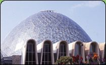 Experience a desert oasis, a tropical jungle and special floral gardens at the Milwaukee Domes.