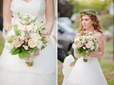 Beautiful bride, beautiful bouquet! // talk about a beautiful wedding! // Kristina & Jeff's Christmas Tree Farm Wedding // Colchester, Connecticut.a & Jeff