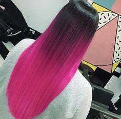 75 Beautiful Hot Pink Hair Color Ideas to Makes You Looks Stunning - Aksahin Jewelry Pink Ombre Hair, Hot Pink Hair, Hair Color Pink, Hair Dye Colors, Cool Hair Color, Vivid Hair Color, Neon Hair, Bright Hair Colors, Beautiful Hair Color