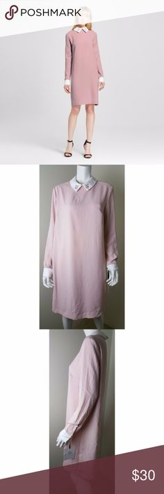 """Victoria Beckham For Target Pink Rabbit Collar XL Light pink dress with rabbit peter pan collar. Brand new with tags, no flaws. Women's size XL.  Approximate measurements laid flat- Pit to pit- 22"""" Length- 39"""" Waist- 22""""  100% Polyester  #1738 #1739 Victoria Beckham for Target Dresses Midi"""