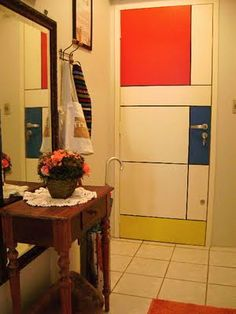 Mondrian Door for the outside of Jackson's room?