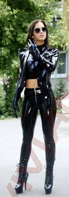 latex outfit, bolero gloves                                                                                                                                                                                 More