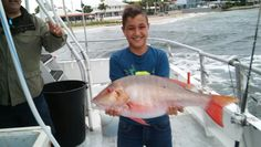 Nice mutton snapper caught by this junior angler aboard the Catch My Drift fishing off of Fort Lauderdale.  Let's go fishing! www.FishHeadquarters.com #mutton #snapper