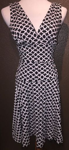 BCX Black White Tulle Skirt Lined Stretch Dress M   eBay