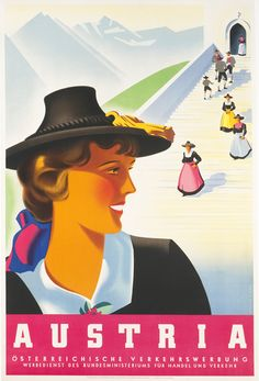 Atelier Binder poster: Austria (woman) c 1930