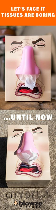 Surprise your guests with a fun Blowze tissue box!