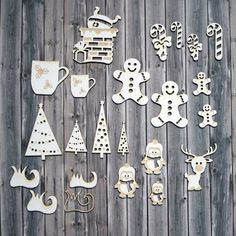 fc7c3d8df9 13 Best embroidered chipboard shapes images | Chipboard, Christmas ...