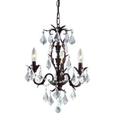 $99.00 - HAMPTON BAY Heritage Aged Iron Chandelier