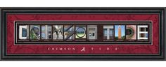 University of Alabama Campus Letter Art.  The pictures spell #CrimsonTide! Cool!