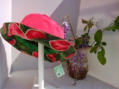 PUL rainhat with watermelon lining