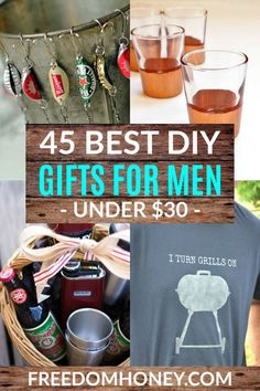 Spoil the men in your life with these 45 Frugal DI Diy Gifts Cheap, Diy Gifts For Men, Diy For Men, Gifts For Him, Christmas Gifts For Men, Homemade Christmas, Christmas Diy, Holiday, Easy Craft Projects