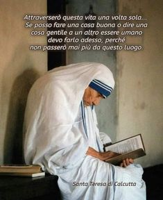 Santa Teresa, Catholic Quotes, Mother Teresa, Positive Vibes, Quotations, Motivation, Words, Virgin Mary, Personality