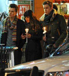"Glee Season 5, Episode 15: ""Bash"": Rachel, Kurt, Blaine and Sam Sing ""No One Is Alone"""