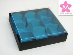 Caixa 10x10x3cm tampa PVC  c/9 bases