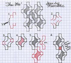"Thai-Mex"" - Tangle Pattern"