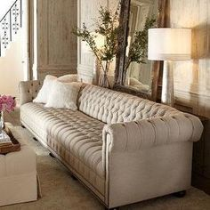 """Horchow 131"""" Tufted Couch.  Just my style"""