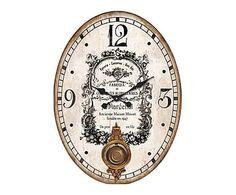 Horloge à balancier, blanc cassé et noir - 43*58