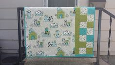 """""""Josie and Theo"""" baby quilt"""