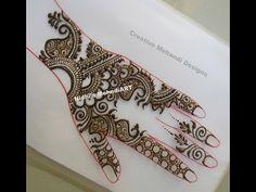 Best Traditional Arabic Back Hand Henna Mehndi Design Tutorial Mehndi Designs Book, Mehandi Designs, Henna Mehndi, Hand Henna, Arabic Henna, Menhdi Design, Design Tutorials, Traditional, Tattoos