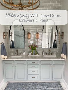 How to Update an Old Vanity with New Drawers Doors and Paint - Southern Hospitality Modern French Country, French Country Decorating, French Country Bathroom Ideas, Bad Inspiration, Bathroom Inspiration, Bathroom Renovations, Home Remodeling, Bathroom Makeovers, Modern Master Bathroom