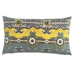 Ardmore 70x40cm cushion in Bush Bandits Butter Dust fabric.
