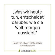 Avocadostore (@avocadostore.de) • Instagram-Fotos und -Videos Marie Von Ebner Eschenbach, Videos, Instagram, Pictures, Writers, Cool Quotes, Quotes