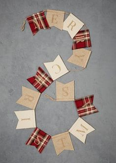 Matalan - Add a classic finishing touch with this charming Merry Christmas banner. Burlap Christmas Tree, Tartan Christmas, Merry Christmas Banner, Indoor Christmas Decorations, Christmas 2019, Homemade Christmas, Christmas Crafts, Christmas Ornaments, Christmas Ideas