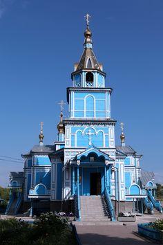 Гжель. Храм Благовещения Пресвятой Богородицы: фото. / Gzhel. Church of the Annunciation of the Blessed Virgin: photo.