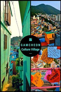 Beautiful, artsy town in Busan, South Korea - Gamcheon Culture Village