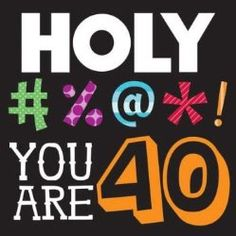 40th Birthday Party Decorations | Time for the Holidays