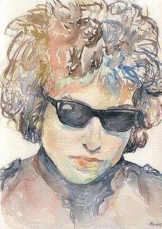 Bob Dylan Face 24x36 Glasses Music Poster Print
