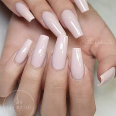 Long square nail shape with nude pink gel polish! Kylie Jenner style nails! Beautiful nails by Ugly Duckling family member @getbuffednails Ugly Duckling Nails page is dedicated to promoting quality, inspirational nails created by International Nail Artists #nailartaddict #nailswag #nailaholic #nail