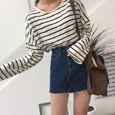 Time for some chic stripes #dailyabout #stripedshirts #tees #tops